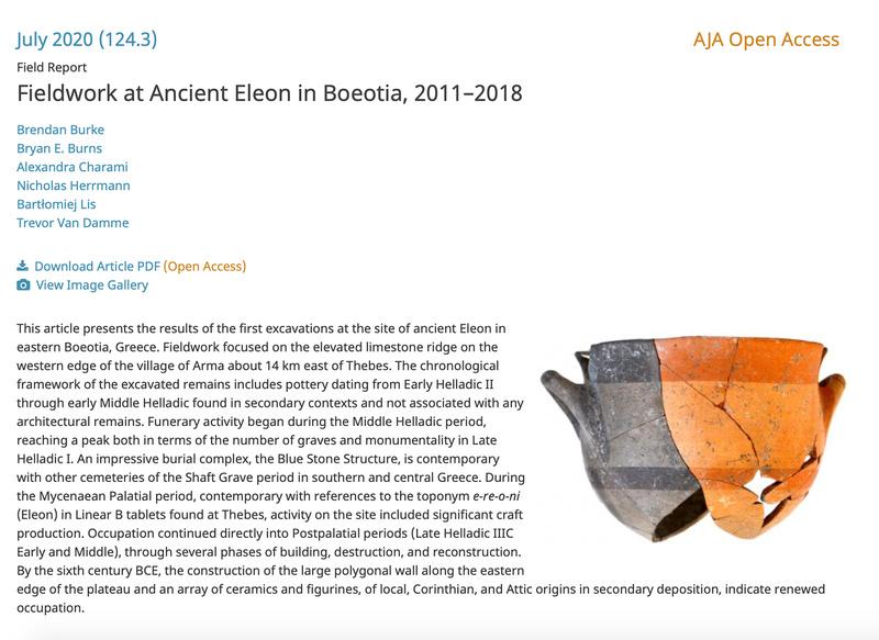 AJA article Ancient Eleon